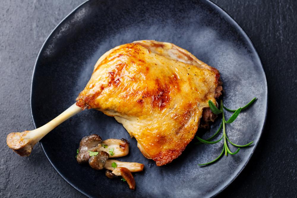 Le confit de canard L'une des recettes les plus savoureuses du sud-ouest